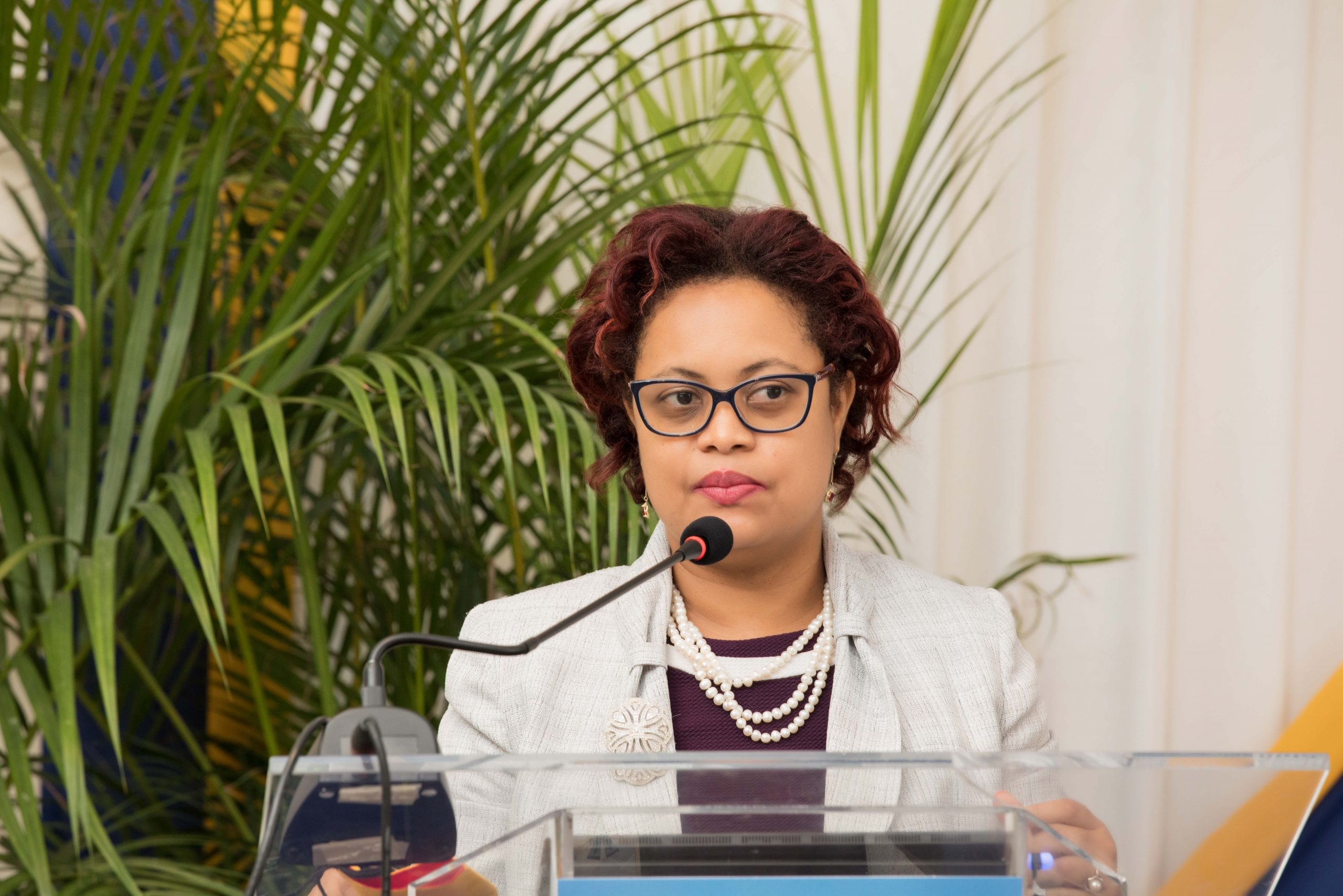 Financial Inclusion Coordinator at the Bank of Jamaica, Melanie Williams engages participants on Consumer Protection Mechanisms for the Banking System at the JDIC's You've Been Upgraded Digital Townhall.